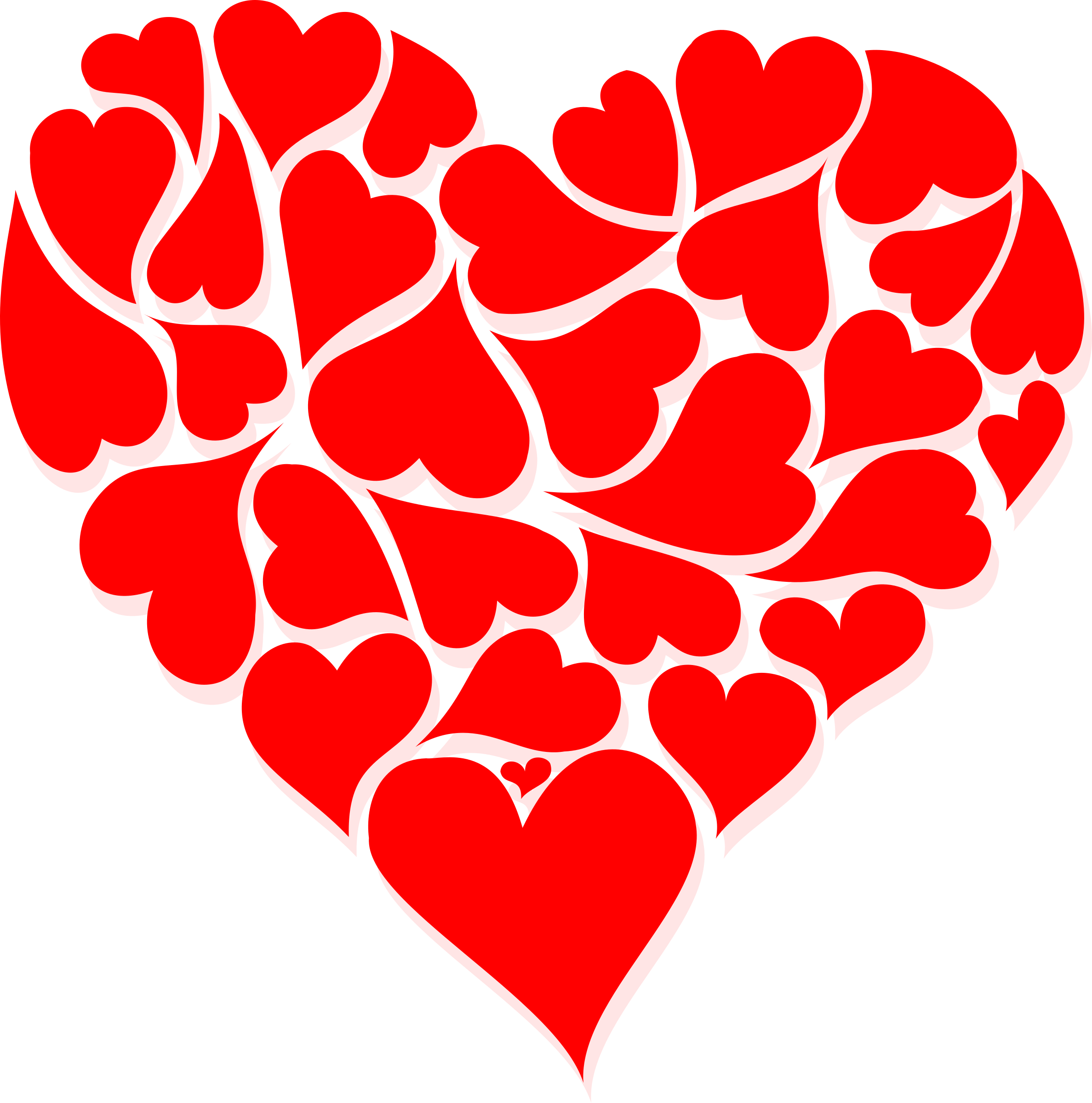 Valentines day family clipart.