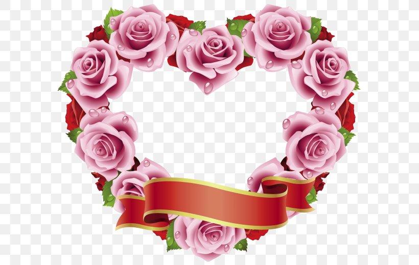 Valentine\'s Day Flower Garden Roses Clip Art, PNG, 600x520px.