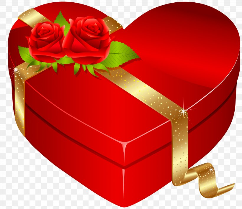 Heart Box Valentine\'s Day Gift Clip Art, PNG, 5921x5126px.