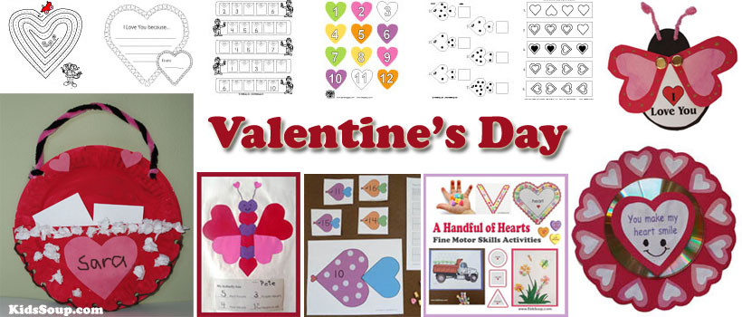 Preschool Valentine\'s Day Activities, Games, and Printables.