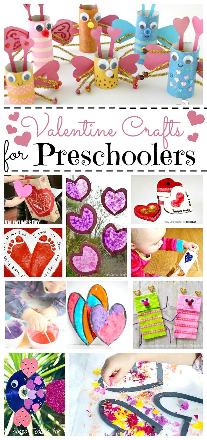 Valentine Crafts for Preschoolers.
