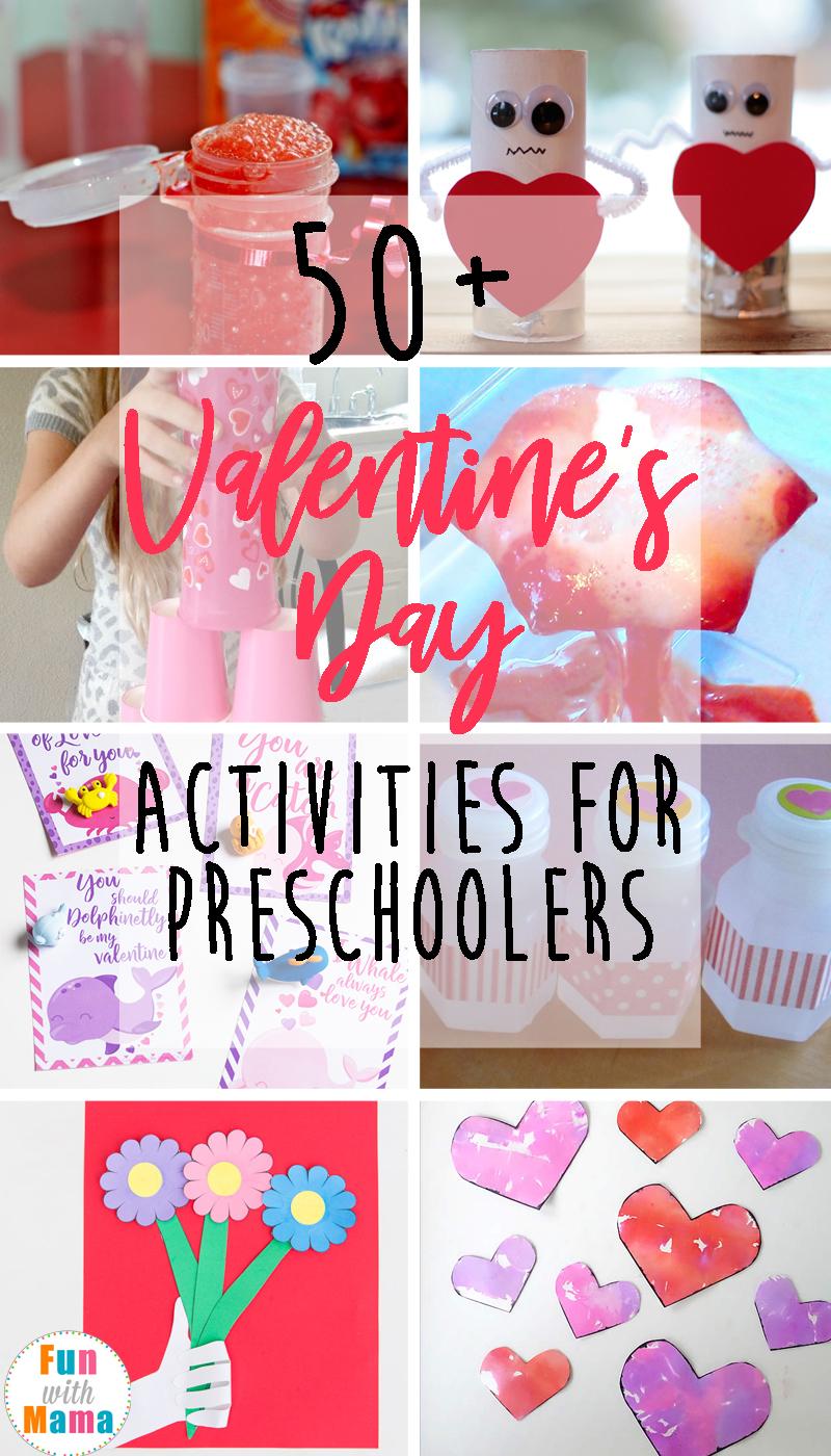 50+ Fun Valentine\'s Day Themed Activities For Preschoolers.