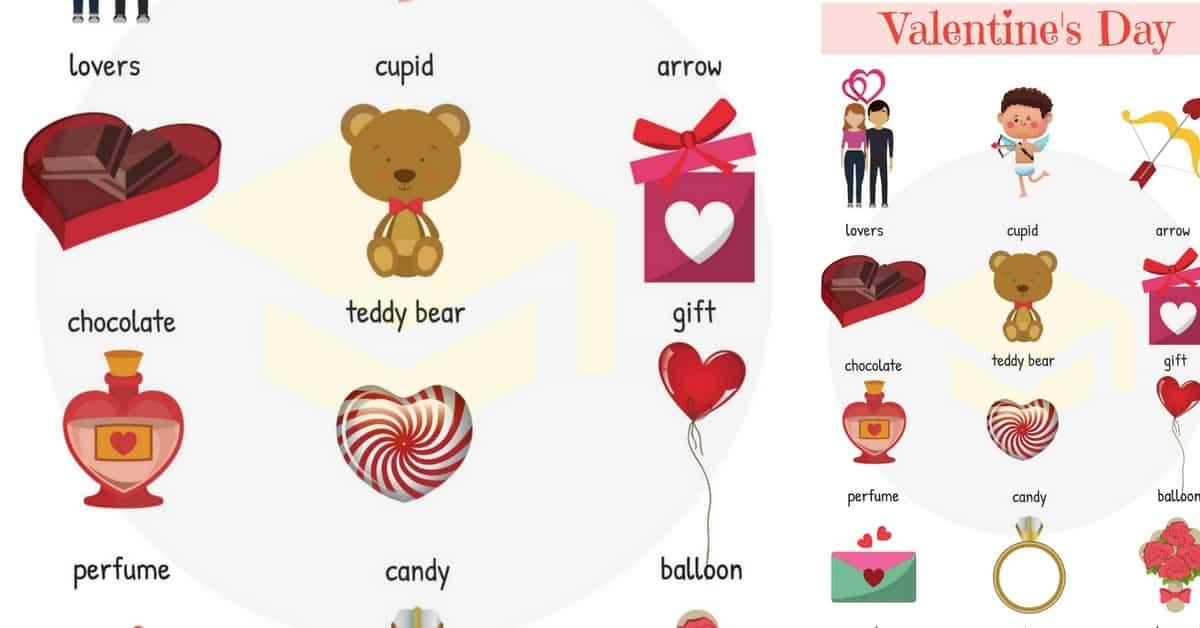 Valentine Words: Useful Valentine\'s Day Vocabulary Words.