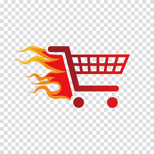 Shopping cart illustration, Shopping Icon, Cartoon.