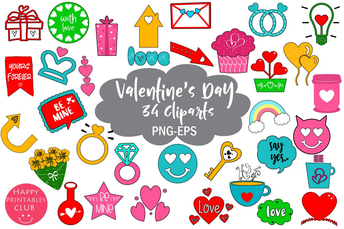 Cute Valentines Day Clipart.