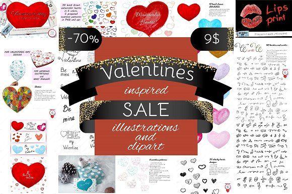 70% off Valentines inspired SALE by Big Bundles Shop on.