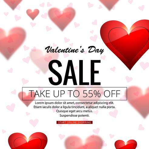 Modern valentine\'s day sale background illustration.