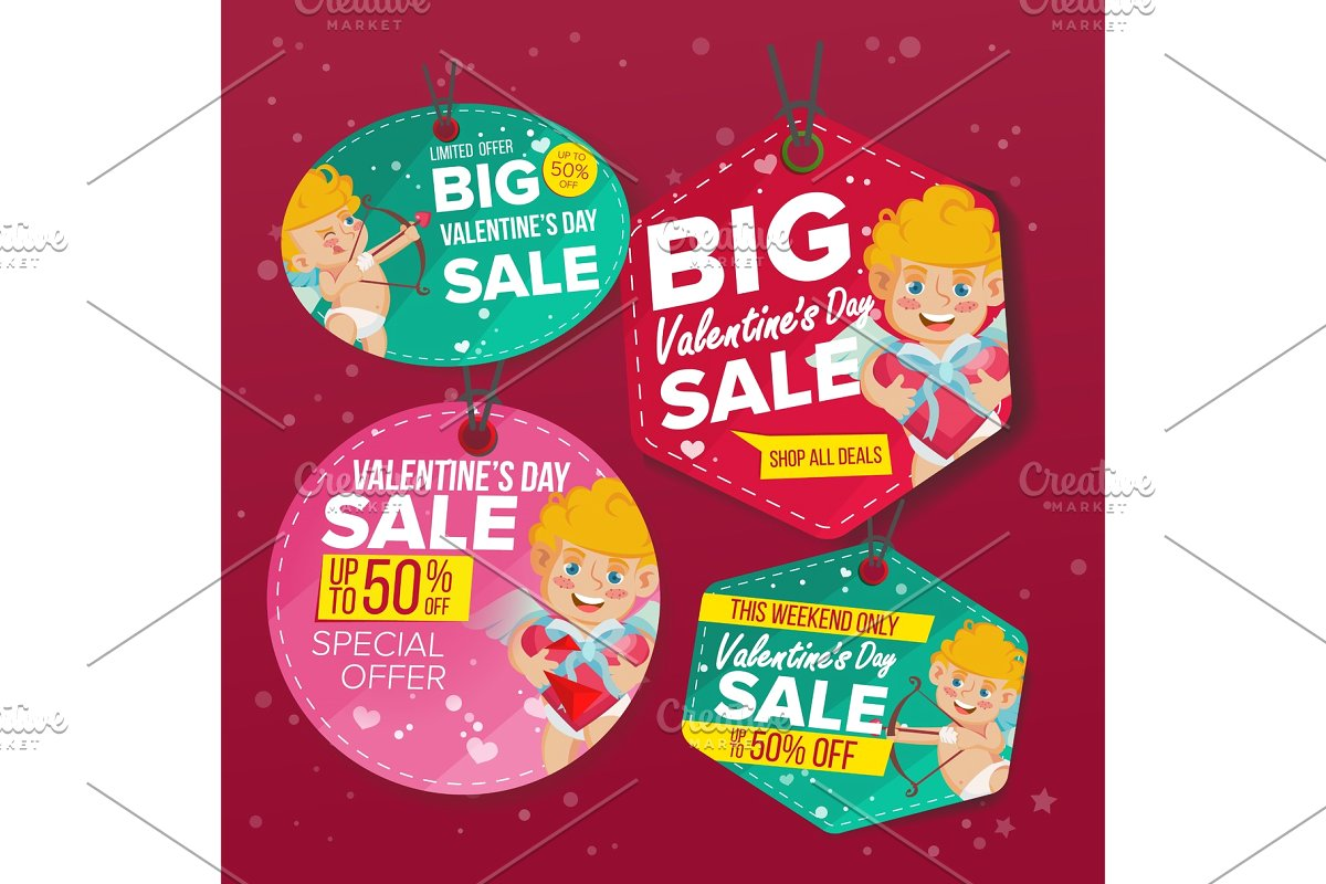 Valentine s Day Sale Love Tags.