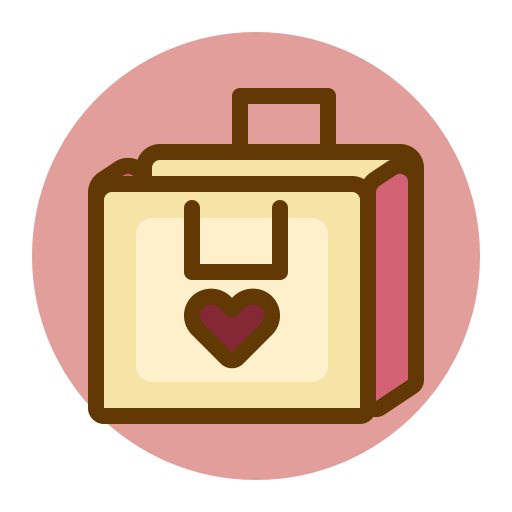 Gift, present, sale, shopping, valentines icon.