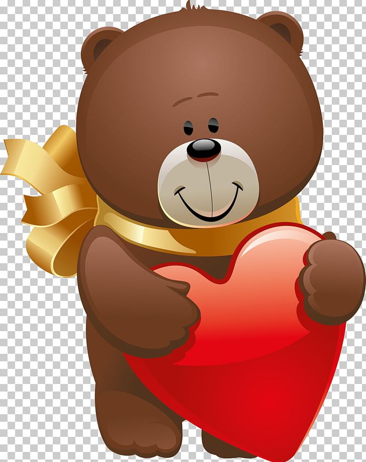 Teddy Bear Valentine\'s Day Stuffed Animals & Cuddly Toys PNG.