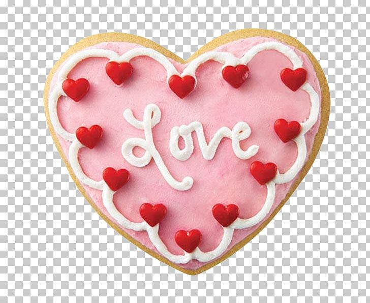 Sugar Cookie Valentine\'s Day Frosting & Icing Petit Four.
