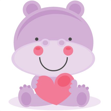 Cute Animal Valentine Clipart.