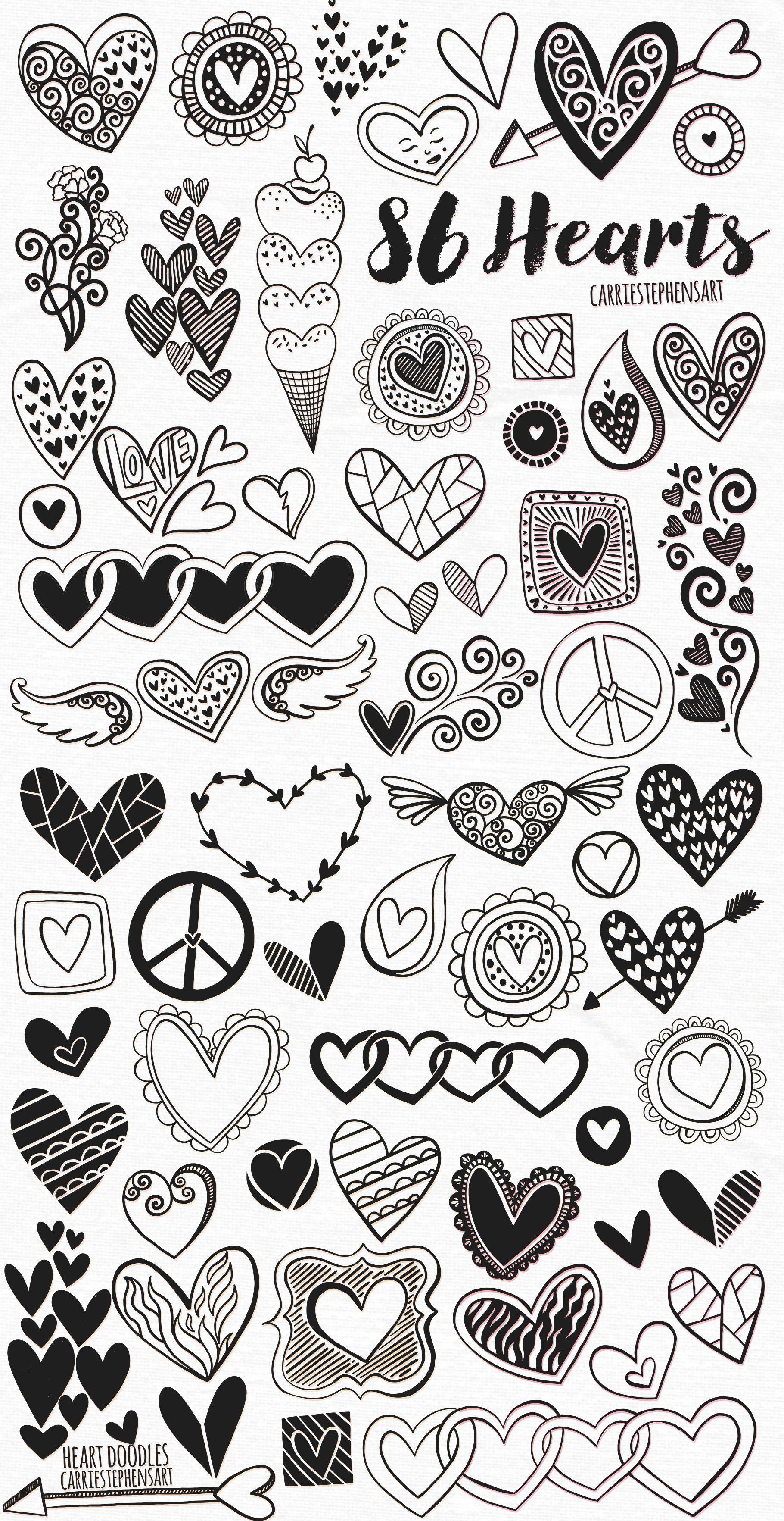 Heart Doodles.