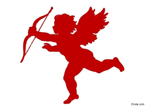Picture of cupid, symbol of love in Valentine\'s Day.