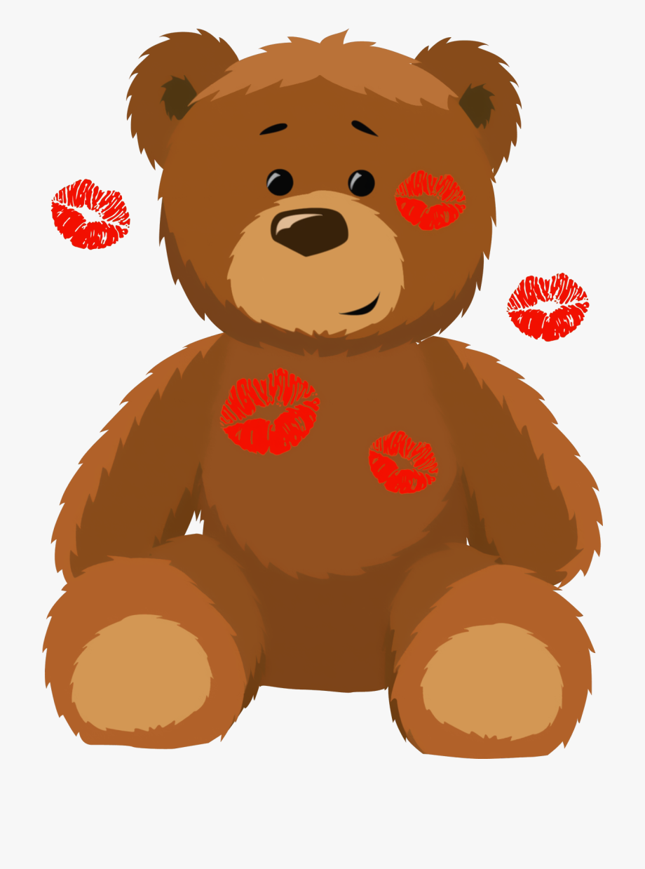 Bear With Kisses Png Picture Clip Art.