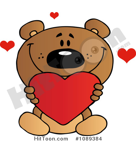 Teddy Bear Clipart #1089384: Valentine Teddy Bear Holding a.