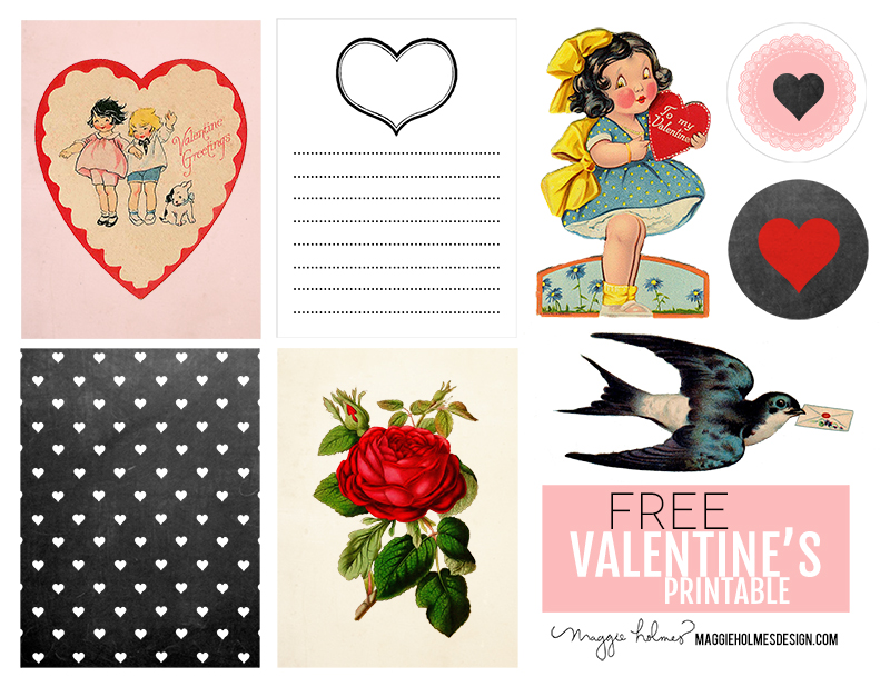 Free Valentine\'s Day Printable & Vintage Clip Art » Maggie.