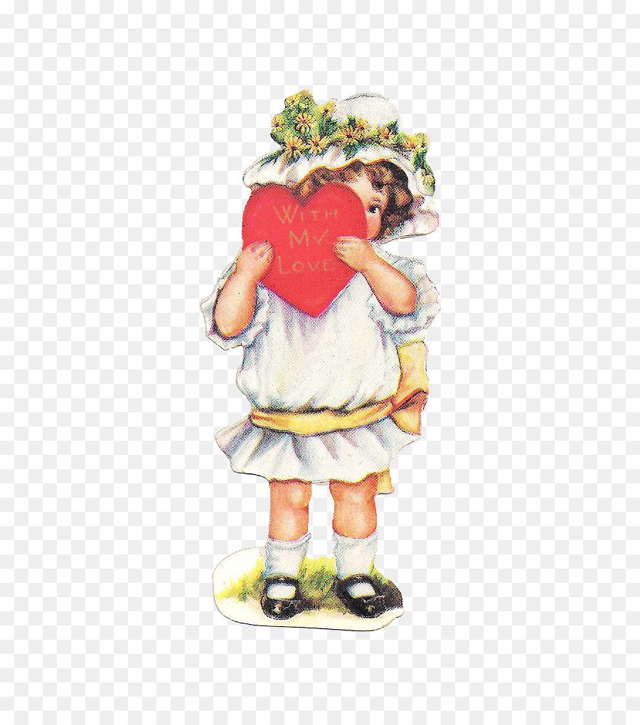 Valentine\'s Day Bokmärke Antique Clip art.