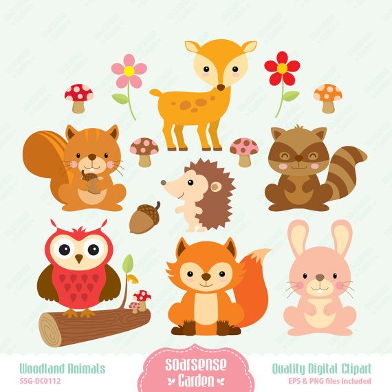 Woodland Animals clip art image, fox clip art, fox vector.