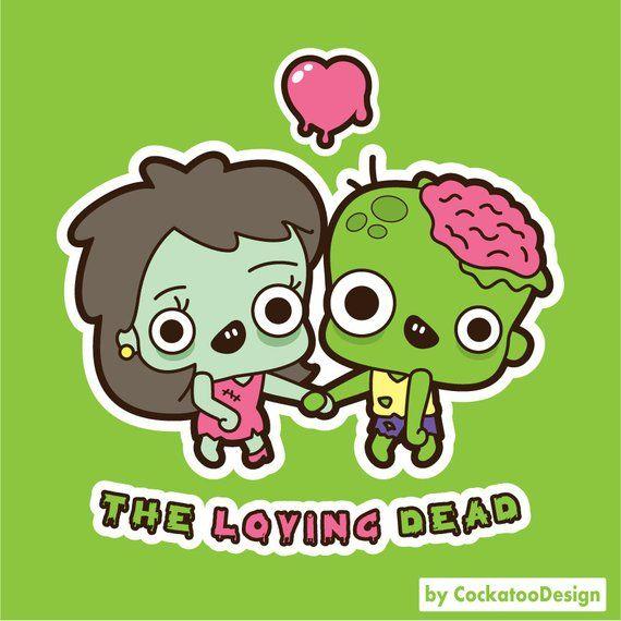 Zombie clipart, kawaii zombie clipart, cute zombie clipart.