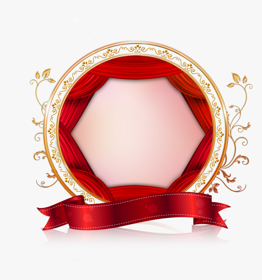 Newcastle Valentine Wedding Creative Border Red Clipart.