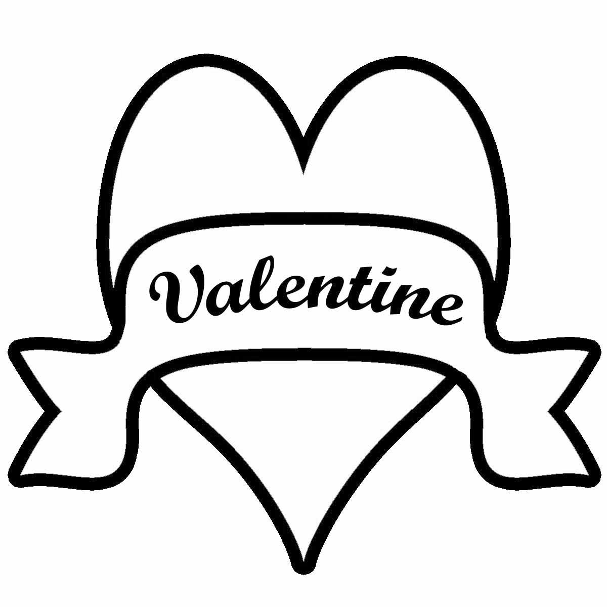Classroom valentines day black and white clipart.