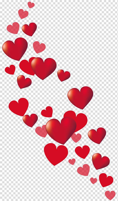 Red heart illustration, Heart Valentine\\\'s Day , Little.