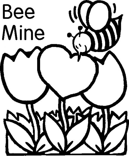 Image of Valentine Clipart Black and White #9122, Happy Valentines.