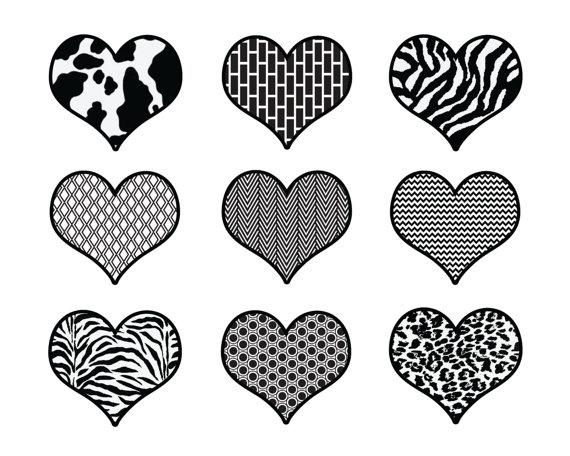Black and White // Digital Scrapbook Clip Art by thepaperpegasus.