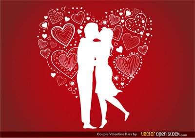Couple Valentine\'s Kiss Clipart Picture Free Download.