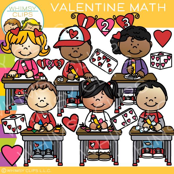 Valentine\'s Day Math Clip Art.
