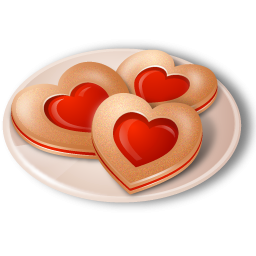 Heart Cookies Icon, PNG ClipArt Image.