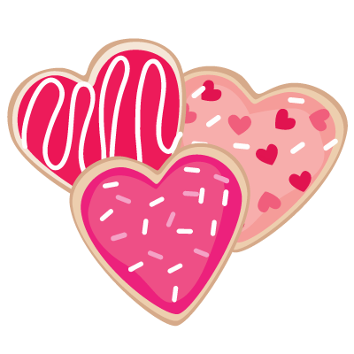 Valentine\'s Day cookies SVG file.