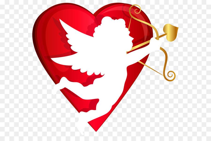 Cupid Heart Valentine\'s Day Clip art.