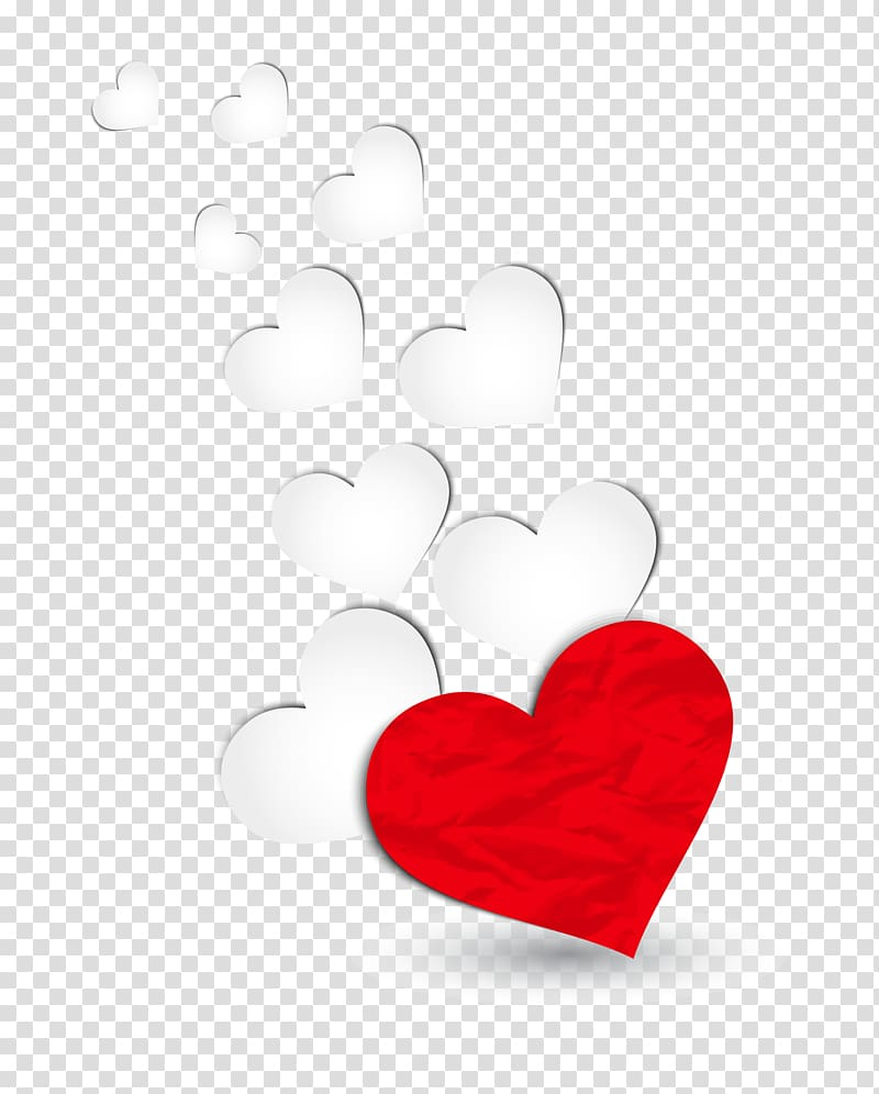 Heart Valentine\'s Day Red, Red and White Hearts Decoration.