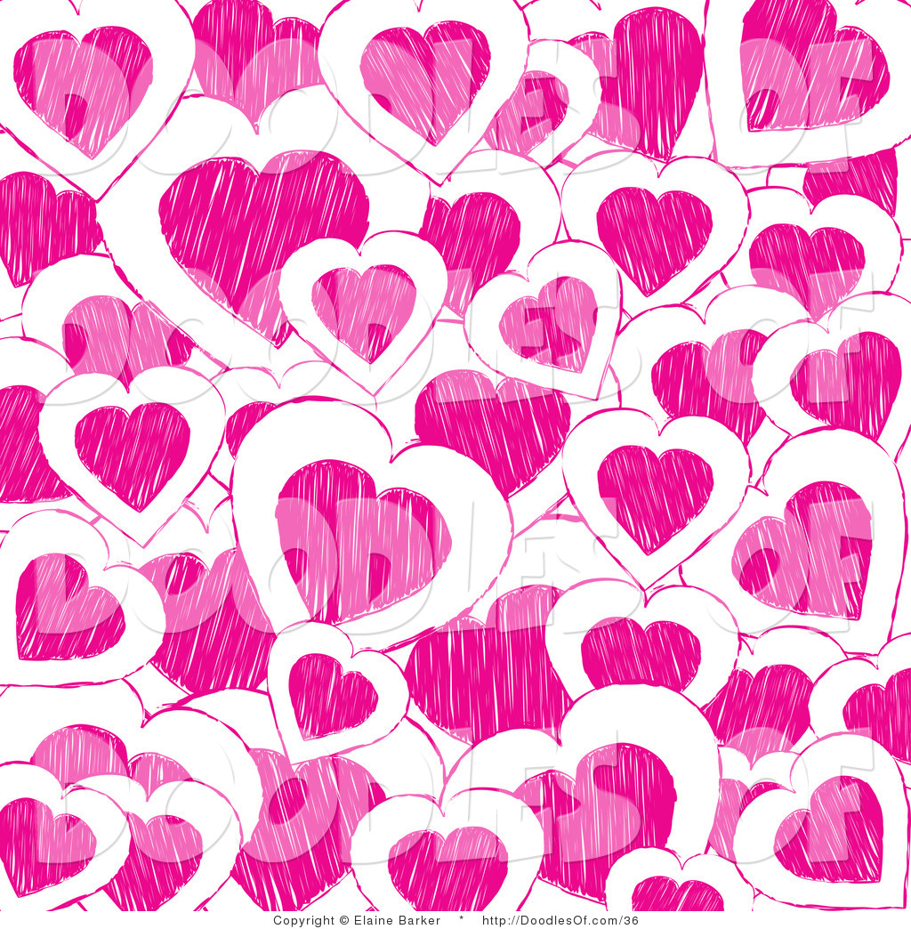 Vector Clipart of a Valentine\'s Day Background of Pink.