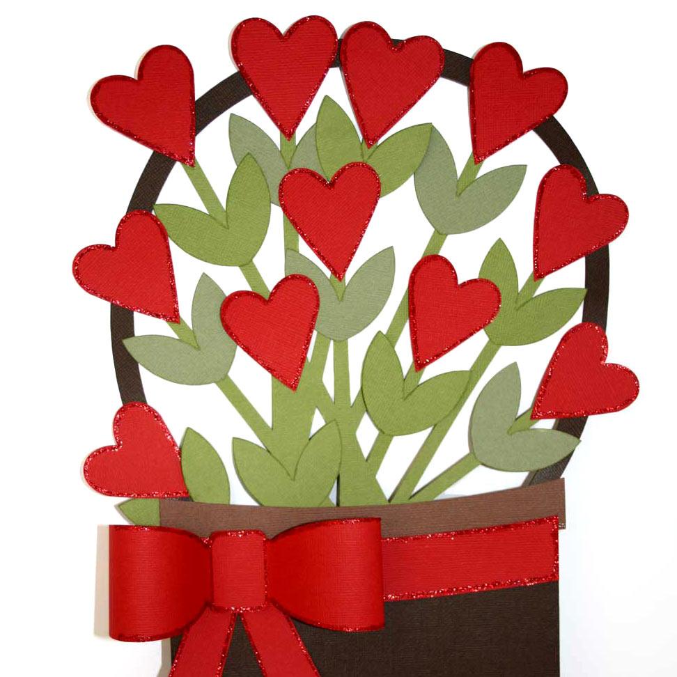 Basket of Hearts Valentine Décor.