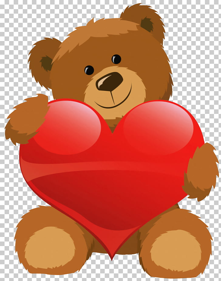 Teddy bear Valentines Day Heart , Toy Bear PNG clipart.