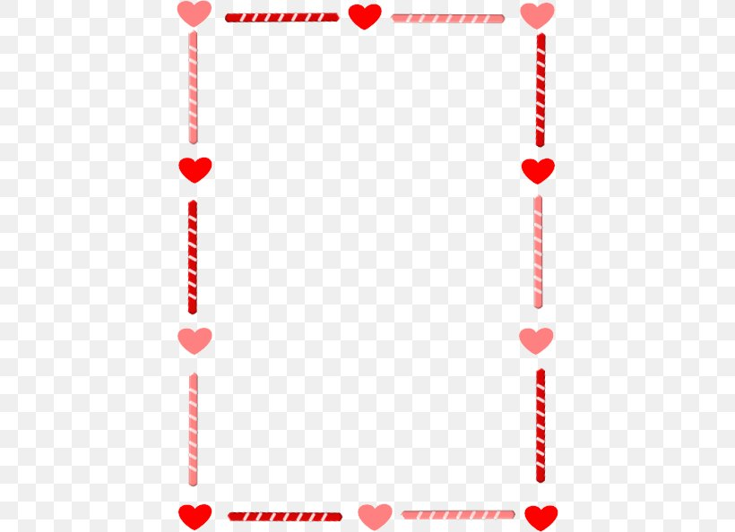 Right Border Of Heart Valentines Day Clip Art, PNG.