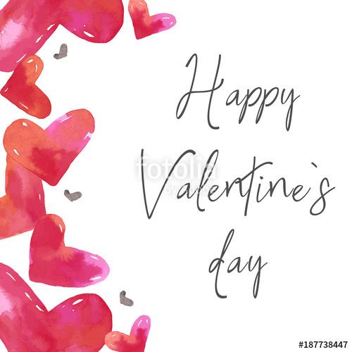 Love clipart, San Valentine\'s day card, card template.