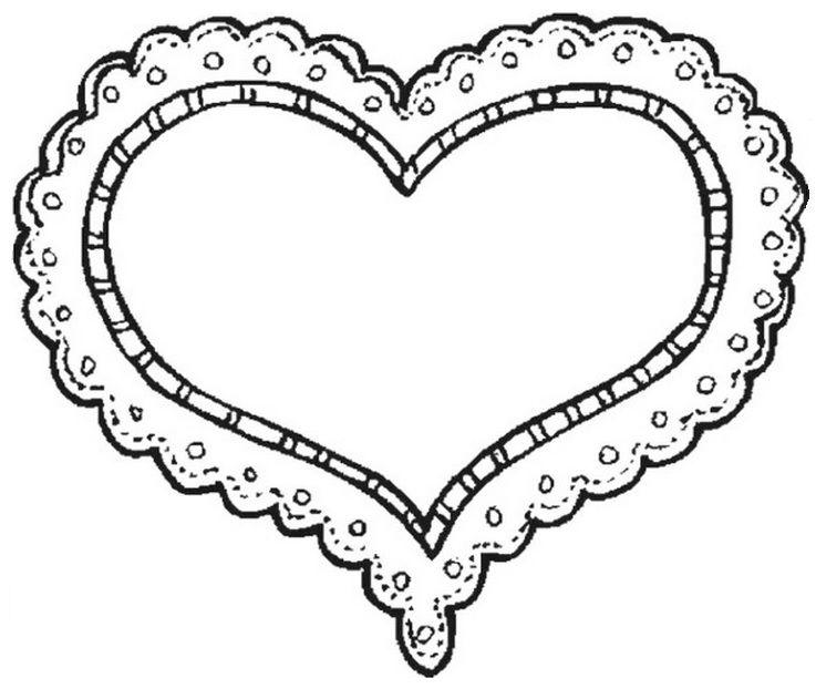 Heart Doily.