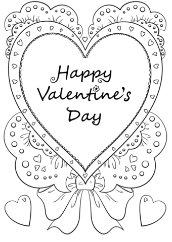 Free Happy Valentines Day Coloring Pages.