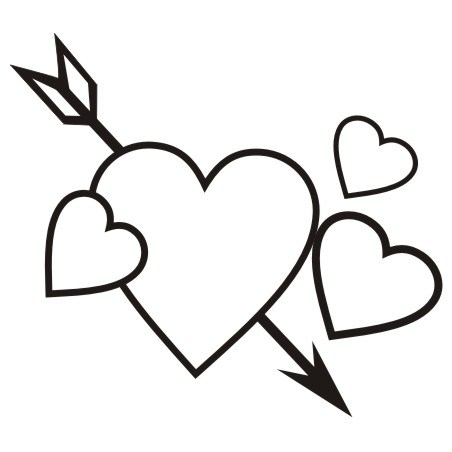Valentines day black and white clipart 4 » Clipart Portal.