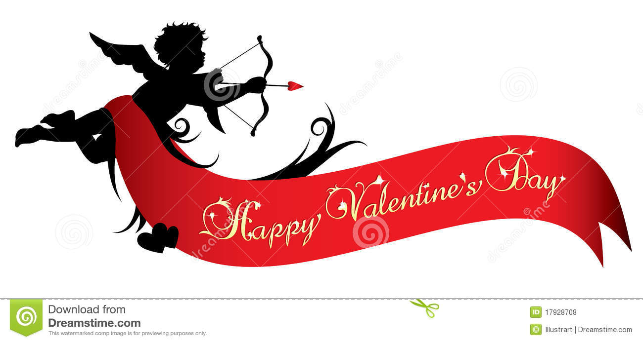 Happy Valentines Day Banner Royalty Free Stock Photos.