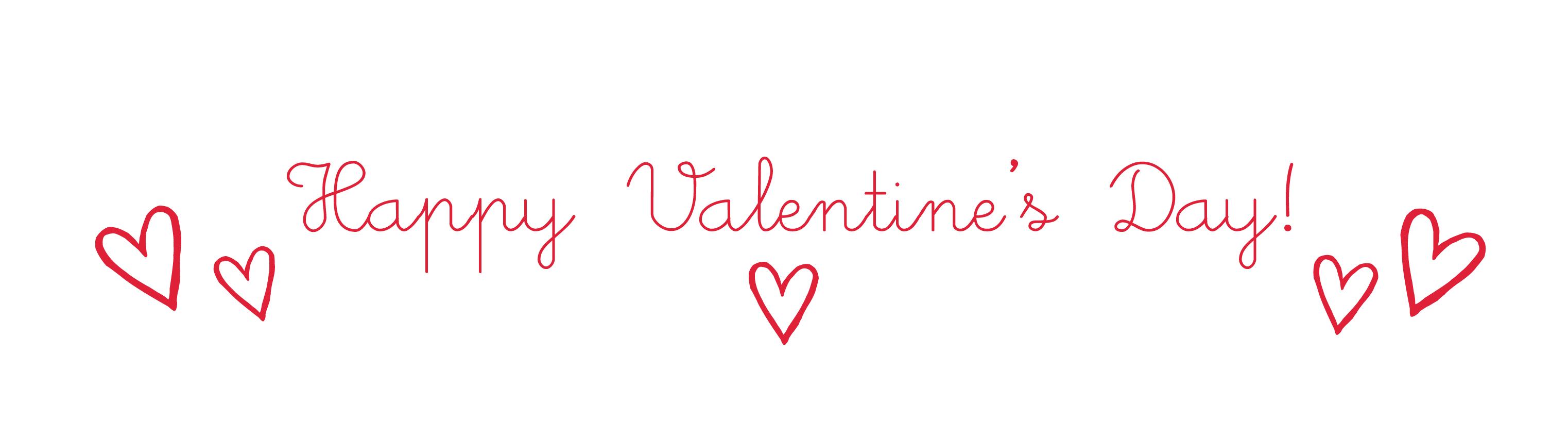 Valentines day clip art banner.