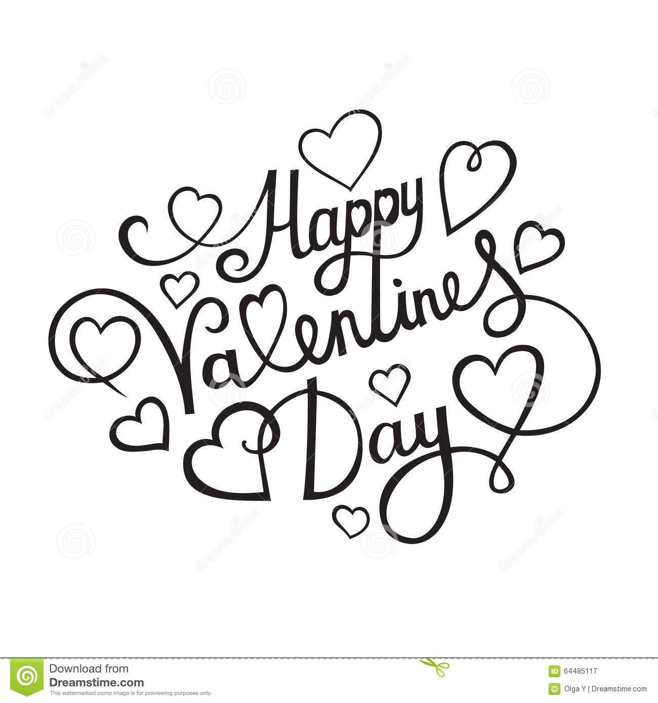Happy valentines day clipart black and white 4 » Clipart Portal.