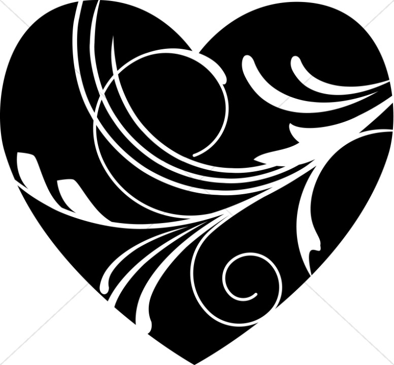 valentines day clipart black and white christian 20 free Cliparts | Download images on ...