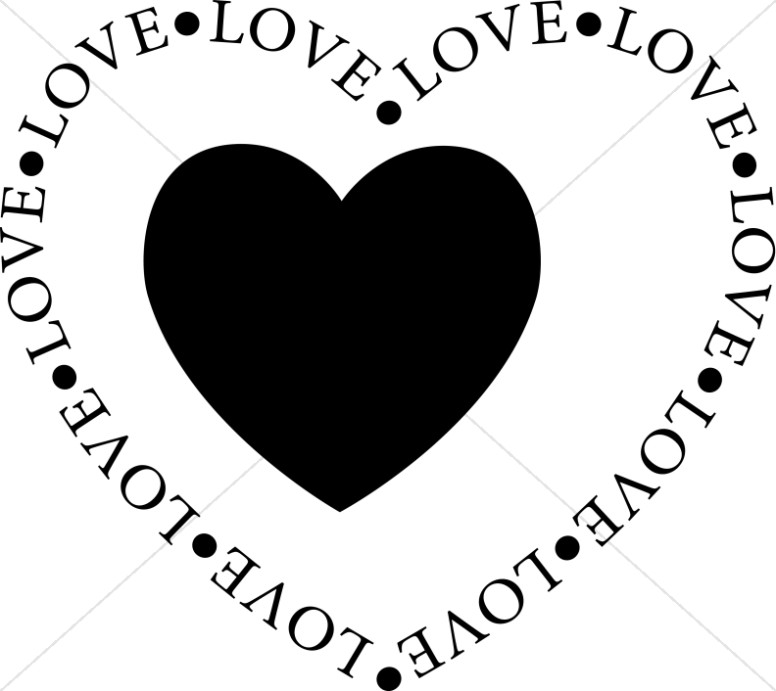 valentines day clipart black and white christian - Clipground
