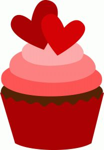 Valentines Day Cupcakes Clipart.