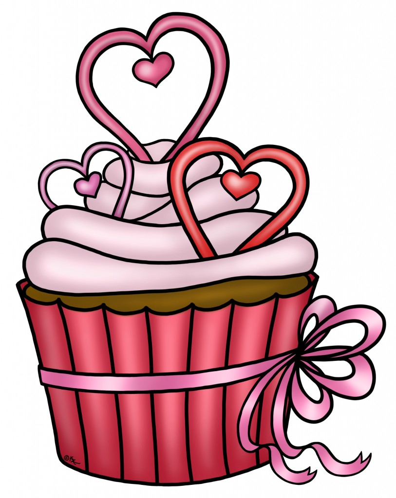 valentines day cupcakes clipart - Clipground
